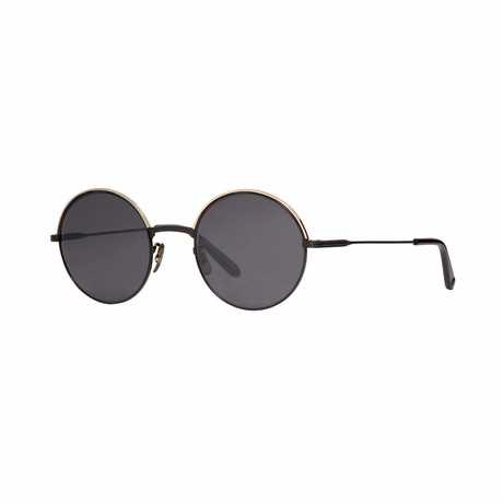 Seville Round Sunglasses // Gold Black + Gray