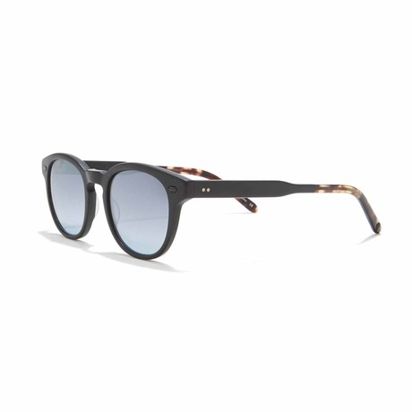Warren Round Sunglasses // Black + Gray