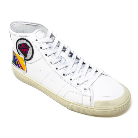 Yves Saint Laurent // Patched Sneakers // White (Euro: 39)
