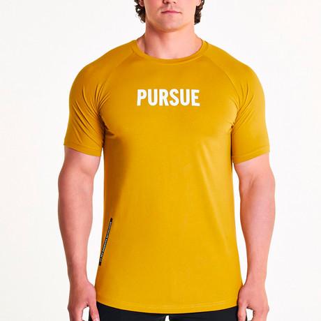 Pursue EST.2013 Fitted T-Shirt // Mustard (S)