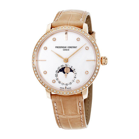 Frederique Constant Ladies Slimline Moonphase Automatic // FC-703VD3SD4