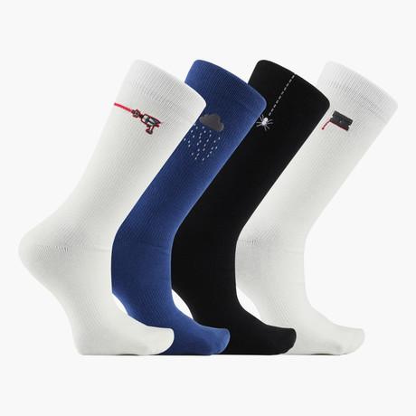 Maalouf Crew Socks // 4 Pack