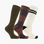 Norme Ligne Bloc Crew Socks // 3 pack