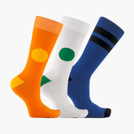 Diviser Ligne Crew Socks // 3 pack