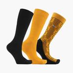 Gatsby Grid Crew Socks // 3 Pack