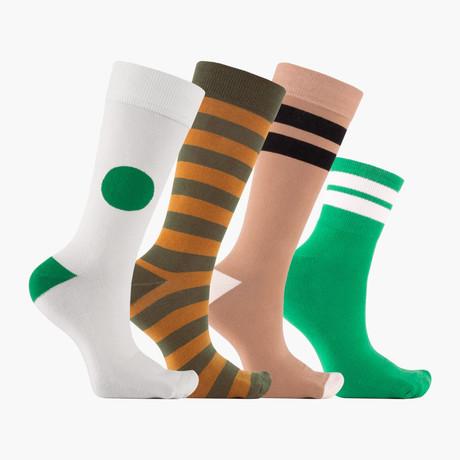 Beth Fraser Crew Socks // 4 Pack