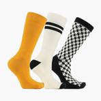 Escher Expressions Crew Socks // 3 pack