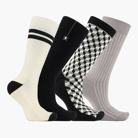 Just Hanging in Escher Crew Socks // 4 Pack