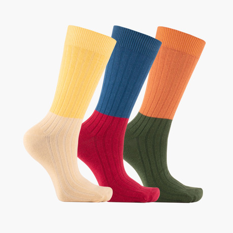 Fendu Crew Socks // 3 Pack
