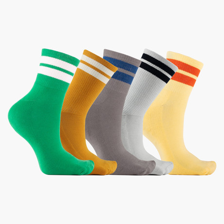 Retro Jouer Ankle Socks // 5 Pack