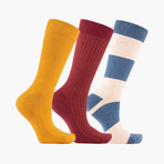 Norme Bloc Crew Socks // 3 pack