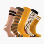 Golden Pennys Crew + Ankle Socks // 5 pack