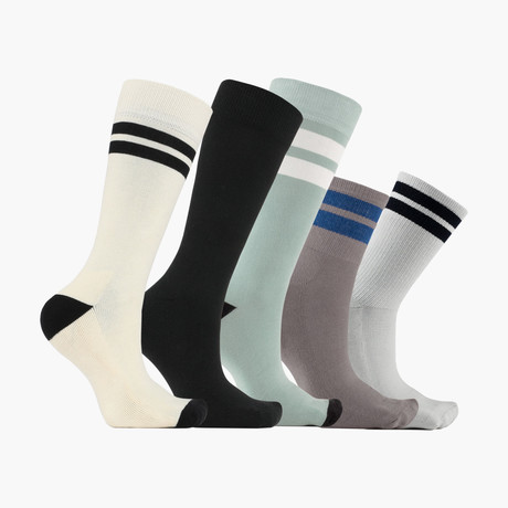 Ligne Jouer Norme Crew + Ankle Socks // 5 pack