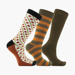 Pennylane Retro Crew Socks // 3 Pack