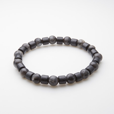 Jean Claude Jewelry // Spirit and Energy Adjustable Bracelet // Moon Agate + Tibetan