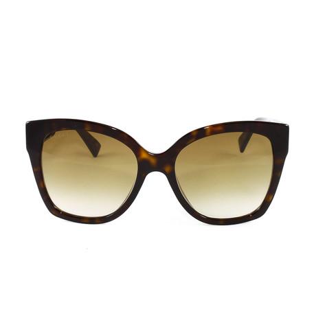 Gucci Women's Sunglasses // GG0459S // Havana Gold