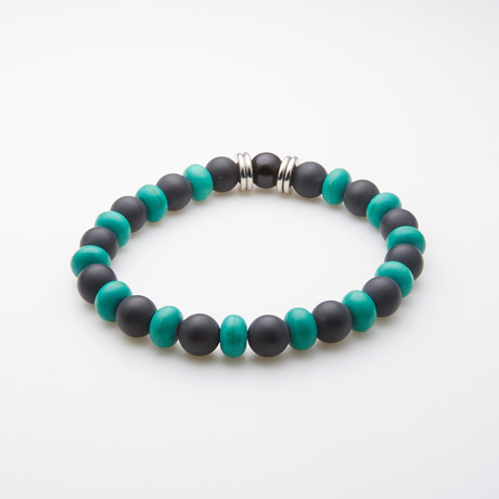Dell Arte // Be Yourself Bracelet // Black + Green
