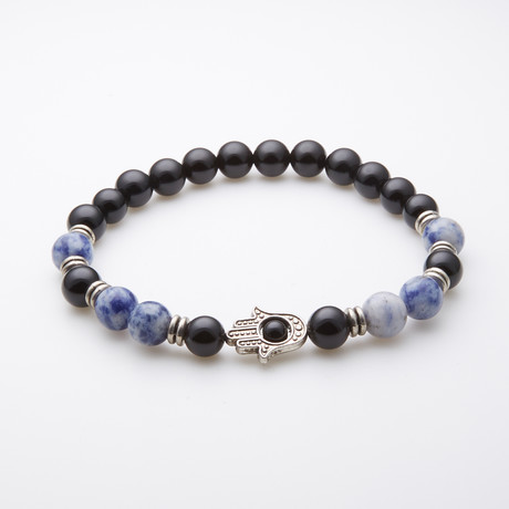 Jean Claude Jewelry // Blue Stone Beaded Bracelet