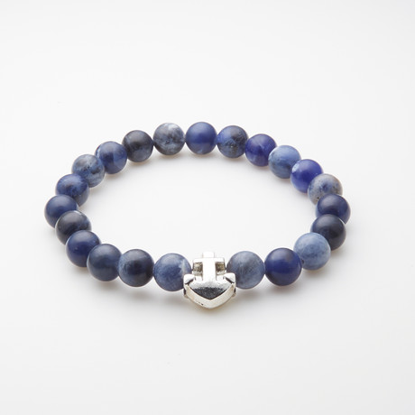 Jean Claude Jewelry // Sodalite Anchor Bracelet // Blue