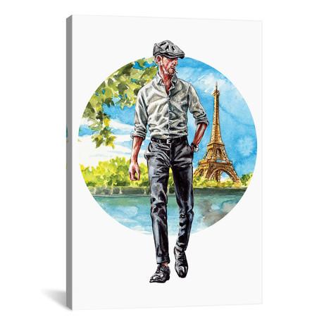 """The Parisian Man (18""""W x 26""""H x 0.75""""D)"""