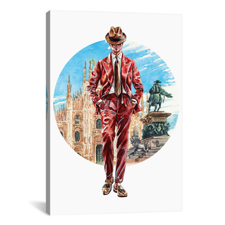 "The Florentine Man (18""W x 26""H x 0.75""D)"