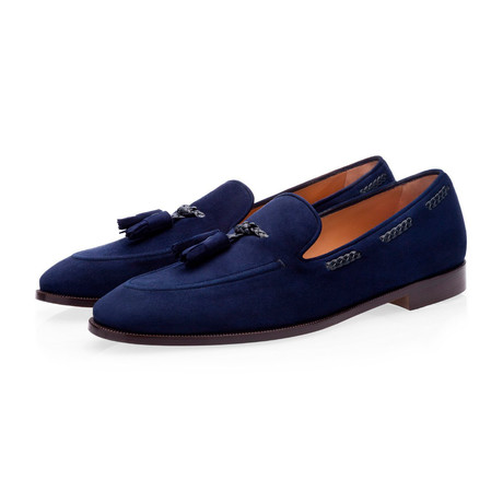 Gigas Velukid Loafers // Navy (Euro: 39)
