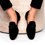 Beau Velour Slippers // Black (Euro: 39)