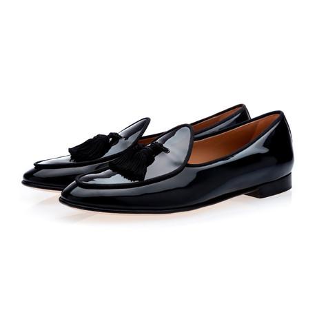 Tangerine 4 Patent Belgian Loafers // Black (Euro: 39)