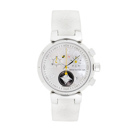Louis Vuitton Ladies Tambour Lovely Cup Chronograph Quartz // Q132C // Pre-Owned