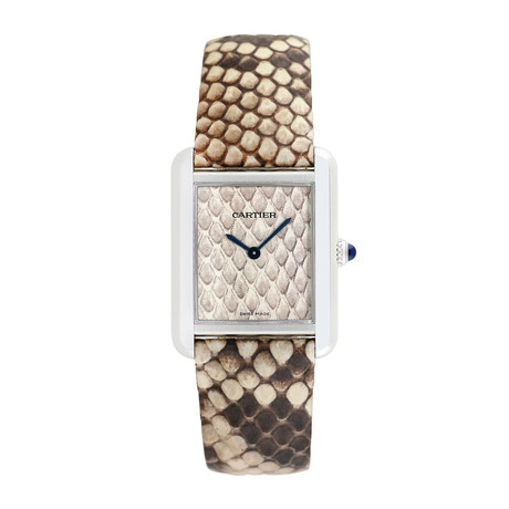 Cartier Ladies Tank Solo Python Quartz // 740043QX // Pre-Owned