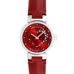 Louis Vuitton Ladies Tambour Attraction Red Wine Quartz // Q12M2 // Pre-Owned