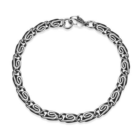 Stainless Steel Mini Wheat Byzantine Bracelet