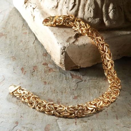 Modern Byzantine Bracelet // 14K Gold Plating