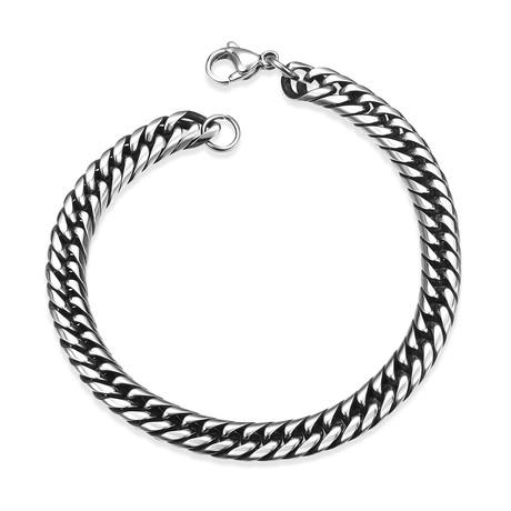 Stainless Steel Italian Snake Curb Chain Bracelet