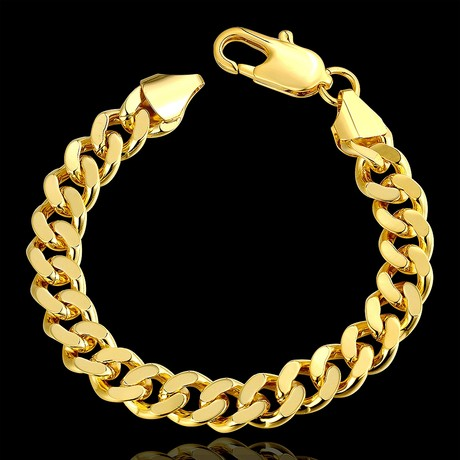 Classic Curb Chain Bracelet // 14K Gold Plated