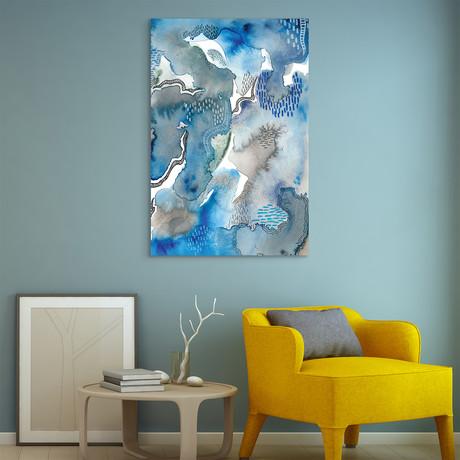 Subtle Blues // Frameless Reverse Printed Tempered Art Glass (Subtle Blues I)