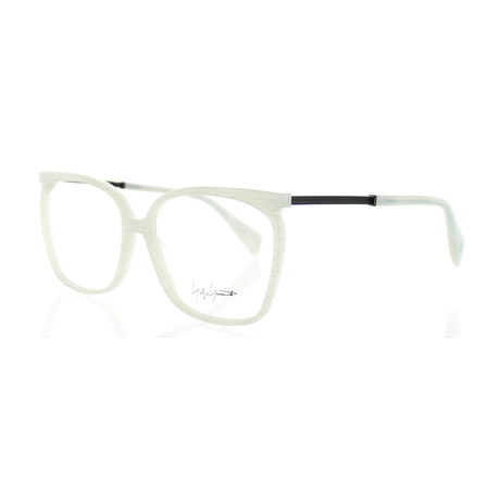 Unisex YY-1028-867 Square Glasses // White Marble