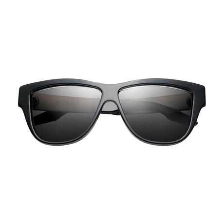 Women's Duskey Sunglasses // Polished Black + Brushed Aluminum + Gray Lens