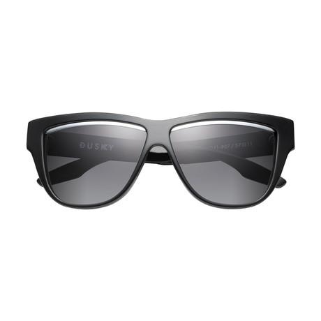 Women's Duskey Sunglasses // Polished Black + Brushed Black + Gray Lens