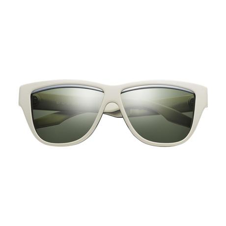Women's Duskey Sunglasses // Green + Gray + D.P.M Series Ivory