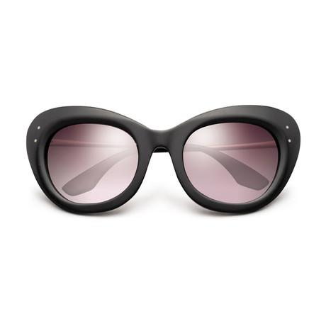 Women's Faye Sunglasses // Matte Black + Rose Gold + Rose Gradient Lens