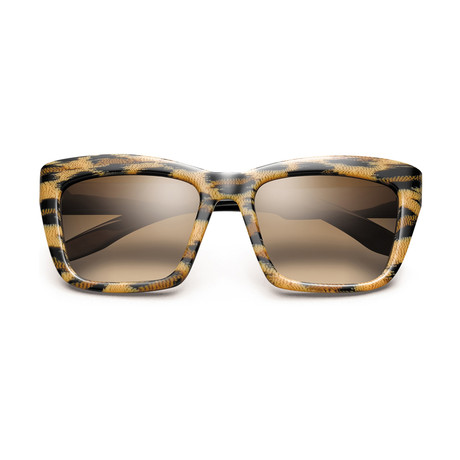 Women's Bonnie Sunglasses // Polished Leopard + Black + Bronze Gradient Lens
