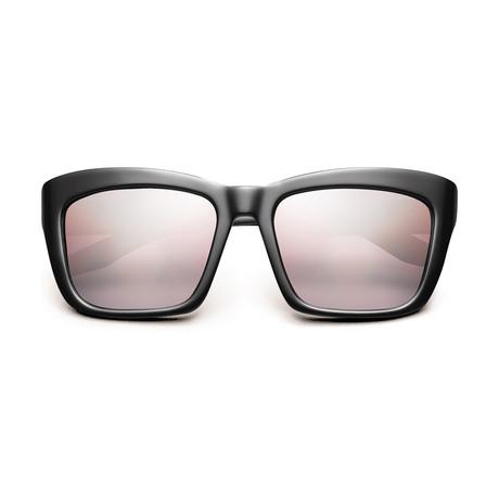 Women's Bonnie Sunglasses // Polished Black + Rose Gradient Lens