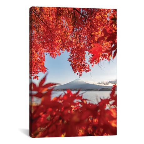 "Autumn In Japan III // Daisuke Uematsu (18""W x 26""H x 0.75""D)"