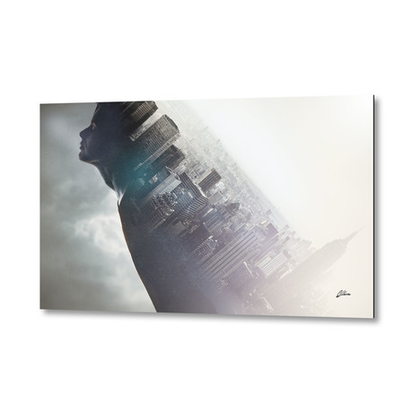 "Connected to New York City by Apachennov // Aluminum Print (16""W x 24""H)"