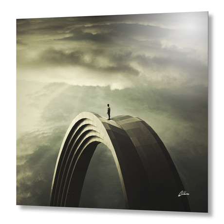"""Time Manager // Aluminum Print (16""""W x 16""""H)"""