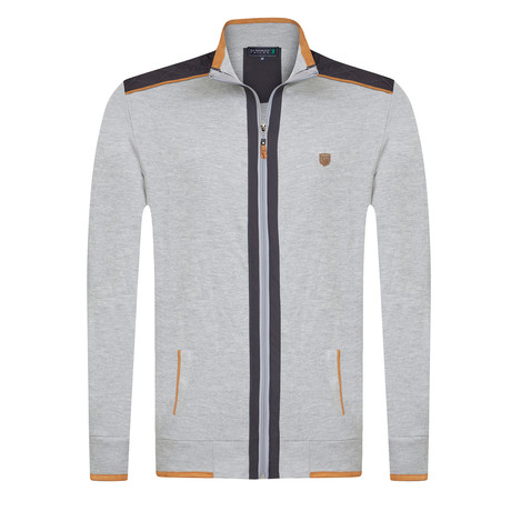 Embedded Zip-Up // Gray Melange (XS)