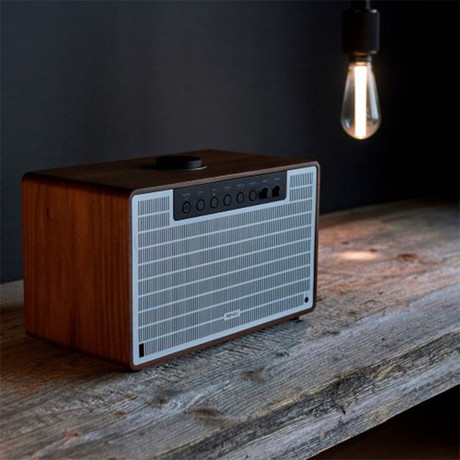 REVO // SuperTone Bluetooth Sound System (Walnut + Silver)
