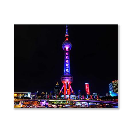 "Oriental Pearl Tower Canvas (12""W x 16""H x 2""D)"
