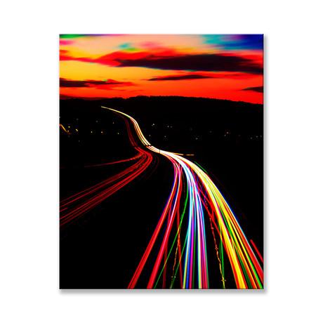 "Rainbow Light Canvas (12""W x 16""H x 2""D)"